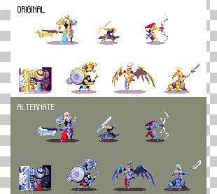 Pixel Art Concept Art Model Sheet PNG