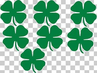 Shamrock Saint Patrick's Day Four-leaf Clover PNG