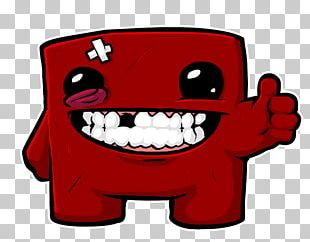 Super Meat Boy Forever PlayStation 4 Video Game Indie Game PNG