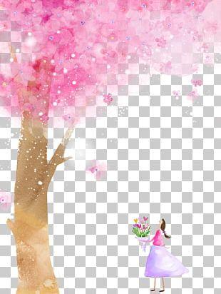 Cherry Blossom Cartoon Flower PNG