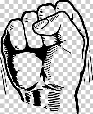 Raised Fist Drawing PNG