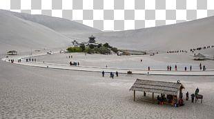 Crescent Lake Yueya Spring Hexi Corridor U9cf4u6c99u5c71 PNG