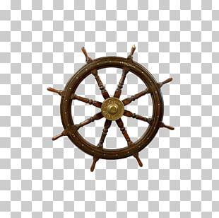 Ship's Wheel Spoke Steering Wheel PNG