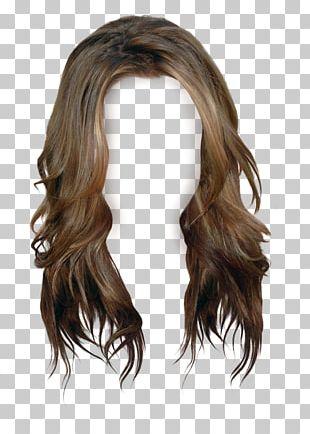 Brown Hair Wig Long Hair PNG