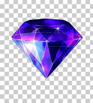 Diamond Sapphire Blue Gemstone PNG