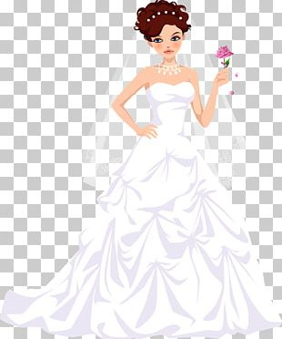 Bride Wedding Dress Vecteur PNG