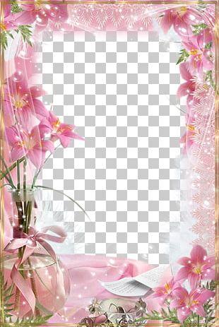 Frames Pink Flowers PNG