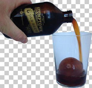 Liqueur Glass Bottle Caramel Color PNG