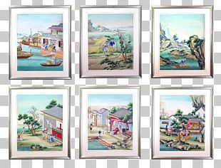 Watercolor Painting Frames Oil Painting PNG