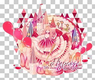 Birthday Gift Pink M Cake RTV Pink PNG
