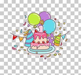 Birthday Cake Greeting Card PNG