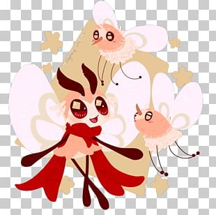 Floral Design Vertebrate Pink M PNG