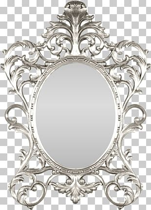 Mirror Silver Frames Decorative Arts Gold PNG