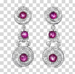 Ruby Earring Gemstone Jewellery PNG