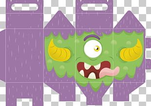 Halloween Box Paper Template Pattern PNG