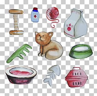 Cat Food Pet Drawing PNG