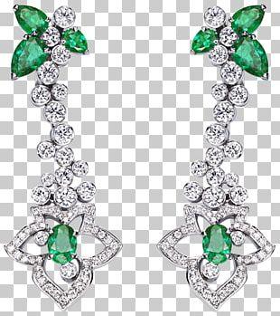 Emerald Jewellery Earring Bitxi Bijou PNG