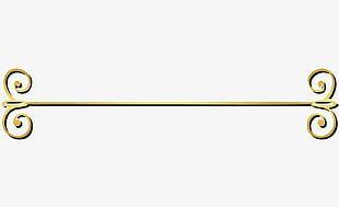 Golden Line Curve PNG