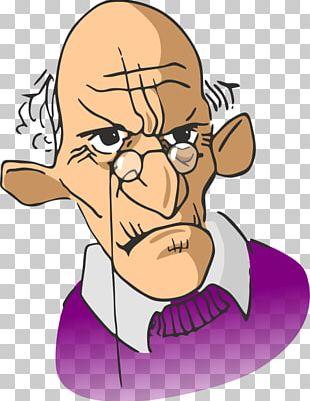 Cartoon Man Glasses PNG