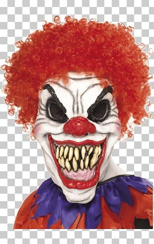 Evil Clown Mask Halloween Costume Costume Party PNG