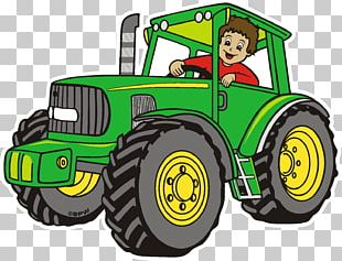 Johnny Tractor John Deere Agricultural Machinery Agriculture PNG