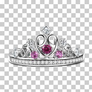 Ruby Ring Jewellery Crown Silver PNG