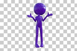 Purple Man Psychic Polygonal Chain 3D Computer Graphics PNG