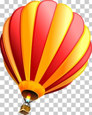 Hot Air Ballooning Red PNG