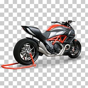 Exhaust System Ducati Diavel Motorcycle Muffler PNG