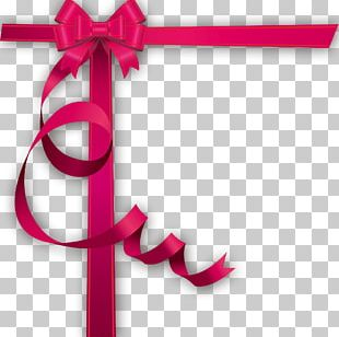 Pink Gift Ribbon Shoelace Knot PNG