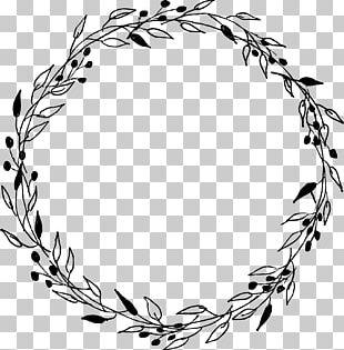 Laurel Wreath Gift Marriage Wedding PNG