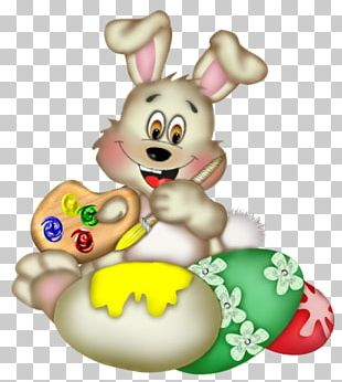Easter Bunny Domestic Rabbit Easter Egg PNG