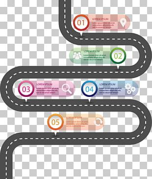 Infographic Template Road Microsoft PowerPoint PNG