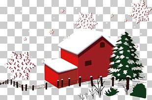 Christmas Snow Winter House PNG