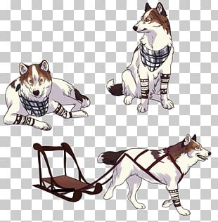 Dog Breed Cat Siberian Husky Leash Illustration PNG