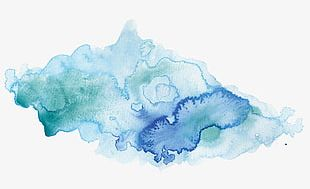 Aesthetic Watercolor Water Powder Creative Effect Pattern PNG