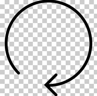Circle Angle White Black M PNG