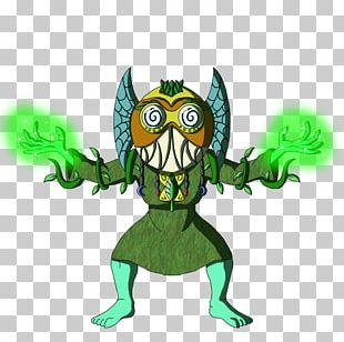 Owl Green Legendary Creature Animated Cartoon PNG
