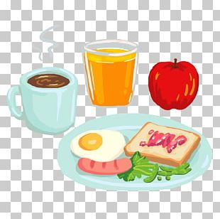 Breakfast Coffee Juice Barbecue Pizza PNG