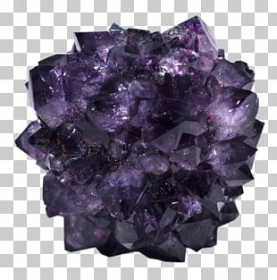 Amethyst Crystal Cluster Quartz Citrine PNG