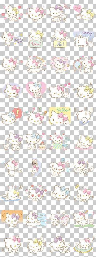 Hello Kitty Cat Sanrio Emoji My Melody PNG