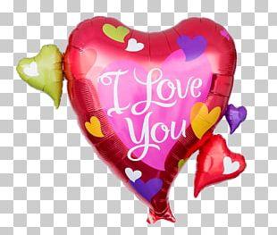 "Magenta Herzballon ""I Love You Global Love Day Anagram 18 Inch Foil Balloon PNG"