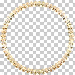 Round Border Frame Gold Transparent PNG