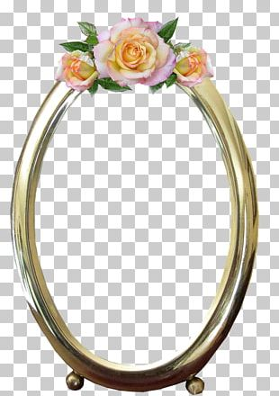 Frames Gold Oval Mirror PNG