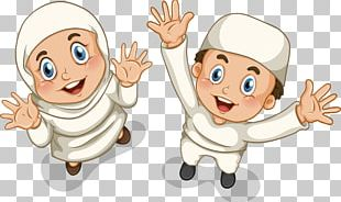 Muslim Islam Boy Illustration PNG