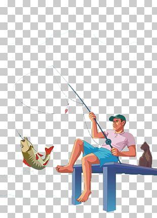 Fishing Rod Fish Hook Angling Fisherman PNG