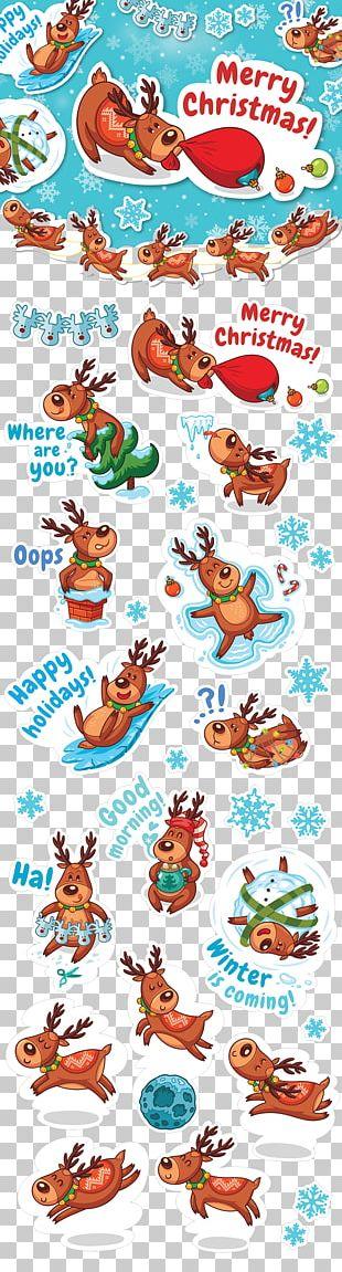 Reindeer Santa Claus Christmas Illustration PNG