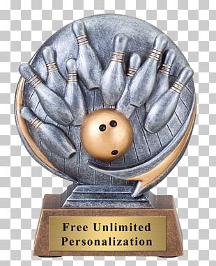 Trophy Award Bowling League Medal PNG