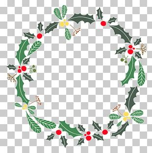 Wreath Holly Christmas PNG