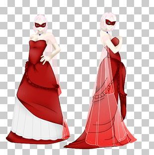 Santa Claus Costume Design Dress Gown PNG